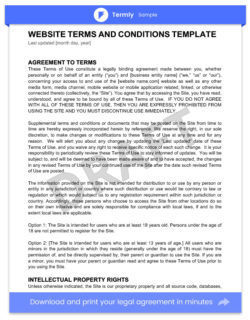 Website Terms and Conditions Template