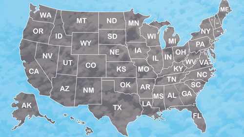 map of the U.S. to be used as a feature image