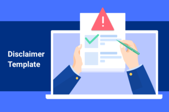 Disclaimer agreement template illustration