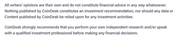 Investment advice disclaimer samples investment week investment trust awards